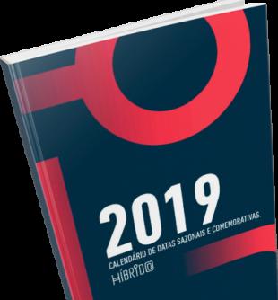 Calendário 2019 para planejamento no ecommerce